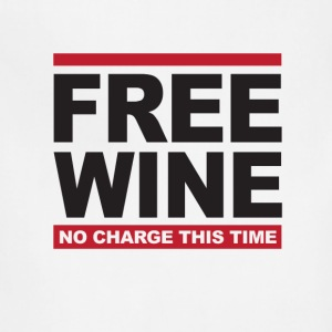 White Free wine T-Shirts - Adjustable Apron