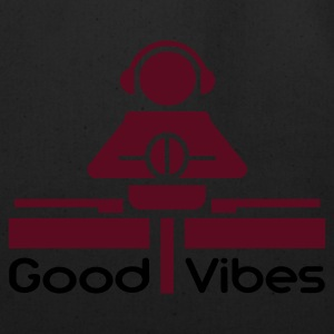 Black Good Vibes T-Shirts - Eco-Friendly Cotton Tote