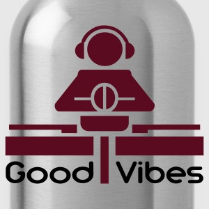 Black Good Vibes T-Shirts - Water Bottle
