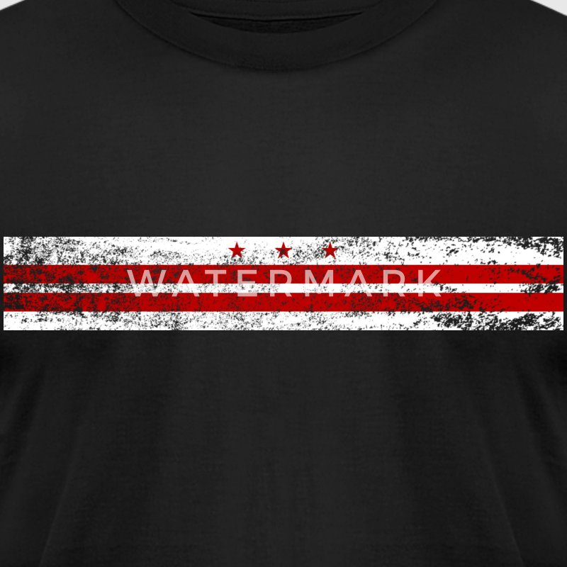 Washington, DC Flag - Men's T-Shirt by American Apparel