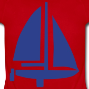 Red Sailing Boat Kids Shirts - Short Sleeve Baby Bodysuit