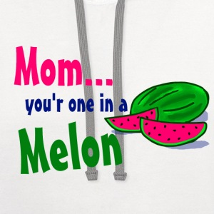 White mom melon Women's T-shirts - Contrast Hoodie