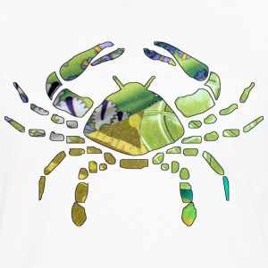 White CANCER The CRAB Kids Shirts - Men's Premium Long Sleeve T-Shirt