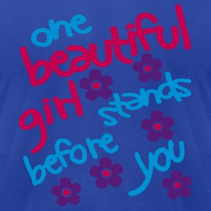 Moss One Beautiful Girl Stands Before You Tanks - Men's T-Shirt by American Apparel
