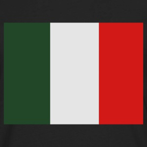 Black Italian Flag Women's T-Shirts - Men's Premium Long Sleeve T-Shirt