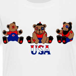 White usa bears Kids' Shirts - Toddler Premium T-Shirt