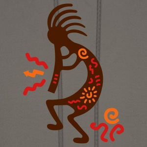 Olive kokopelli_carving_american T-Shirts - Men's Hoodie