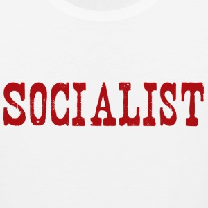 White socialist Long Sleeve Shirts - Men's Premium Tank