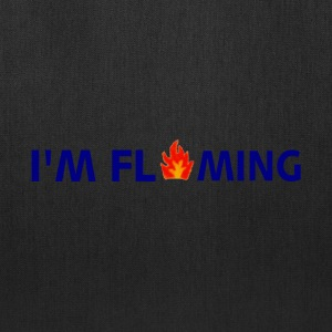White I'M FLAMING Long Sleeve Shirts - Tote Bag
