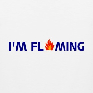 White I'M FLAMING Long Sleeve Shirts - Men's Premium Tank