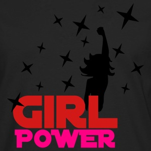 Black Girl Power Stars Women's T-Shirts - Men's Premium Long Sleeve T-Shirt