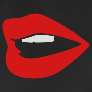 Black Red Lips Bags  - Leggings