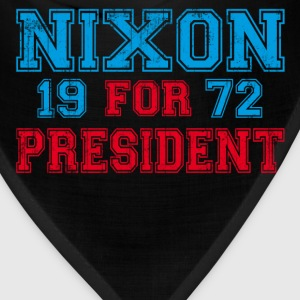 Black Nixon 1972 retro T-Shirts - Bandana