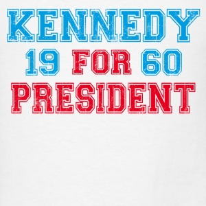 White Kennedy 1960 Retro Long Sleeve Shirts - Men's T-Shirt