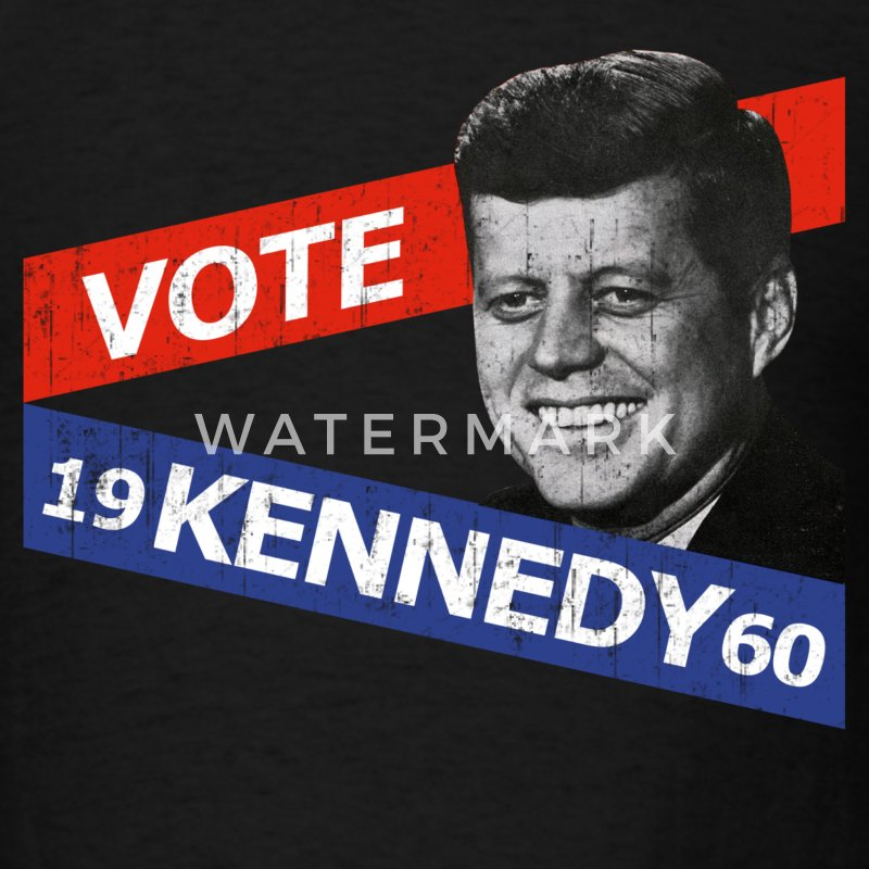 Black JFK Kennedy Retro  T-Shirts - Men's T-Shirt