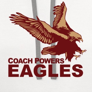 White Coach Powers Eastbound Down Long Sleeve Shirts - Contrast Hoodie
