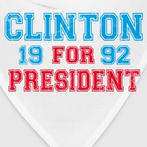 White Bill Clinton 1992 President T-Shirts - Bandana