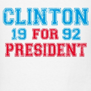 White Bill Clinton 1992 President Long Sleeve Shirts - Men's T-Shirt