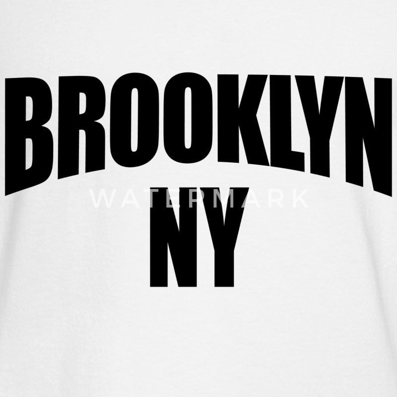 White Brooklyn NY New York Long Sleeve Shirts - Men's Long Sleeve T-Shirt