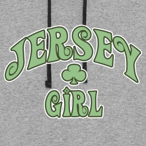 Gray jersey_girl Women's T-Shirts - Colorblock Hoodie