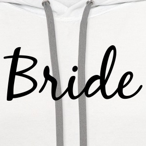 Bride Longer Length Tank Top - Contrast Hoodie