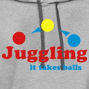 Ash  Juggling It Takes Balls T-Shirts - Contrast Hoodie