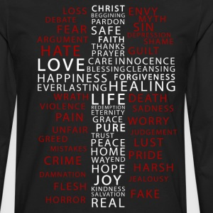 Contrast in Words - Men's Premium Long Sleeve T-Shirt