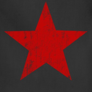 Black Red Star faded  T-Shirts - Adjustable Apron