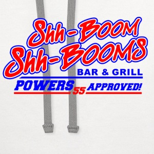 White Kenny Powers Shh Booms  T-Shirts - Contrast Hoodie