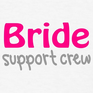 White Bride support crew Buttons - Men's T-Shirt