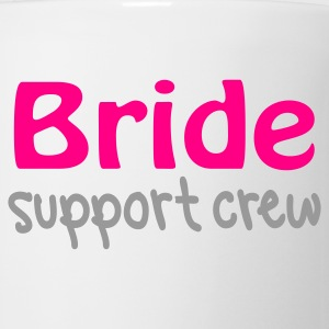 White Bride support crew Buttons - Coffee/Tea Mug