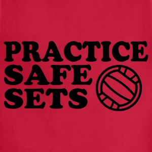 Purple volleyball safe sets Women's T-Shirts - Adjustable Apron