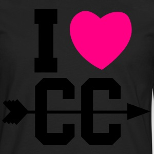 I Heart Cross Country V-neck - Men's Premium Long Sleeve T-Shirt