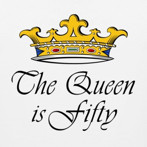 50th birthday gift, The queen is fifty crown! - Men's Premium Tank