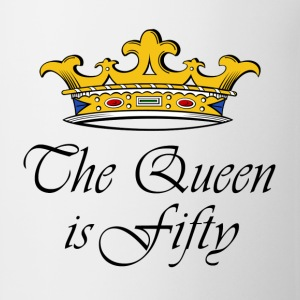 50th birthday crown_the queen is fifty Hoodies - Coffee/Tea Mug