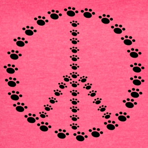 Peace for Paws Ladies Tank - Women's Vintage Sport T-Shirt