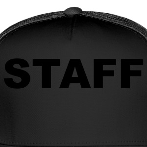 Black Staff T-Shirts - Trucker Cap