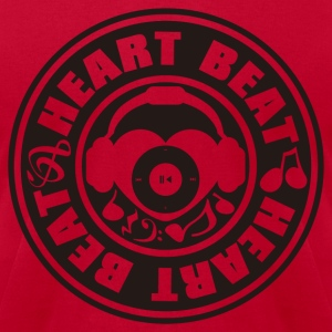 Heart_Beat - Men's T-Shirt by American Apparel