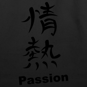 Black Kanji - Passion Long Sleeve Shirts - Eco-Friendly Cotton Tote