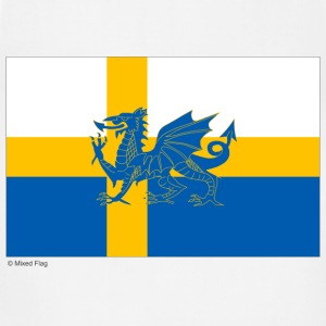 Sweden Wales Mixed Flag - Adjustable Apron
