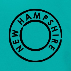 Teal New Hampshire Women's T-Shirts - Unisex Fleece Zip Hoodie by American Apparel