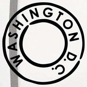 White Washington DC Women's T-Shirts - Contrast Hoodie