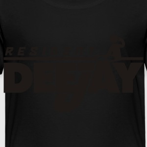 Black Resident DeeJay Kids' Shirts - Toddler Premium T-Shirt