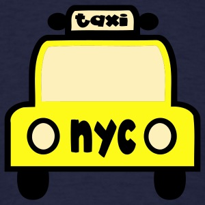 Navy Taxi Cab NYC Retro Sweatshirts - Men's T-Shirt