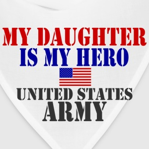 White DAUGHTER HERO ARMY Women's T-Shirts - Bandana