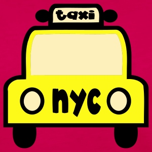 Fuchsia Taxi Cab NYC Retro Tanks - Women's Premium Long Sleeve T-Shirt