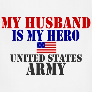 White HUSBAND HERO ARMY Women's T-Shirts - Adjustable Apron