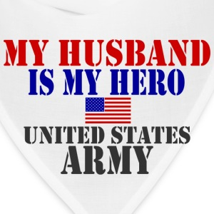 White HUSBAND HERO ARMY Women's T-Shirts - Bandana