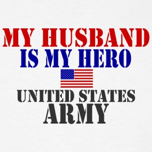 White HUSBAND HERO ARMY Long Sleeve Shirts - Men's T-Shirt