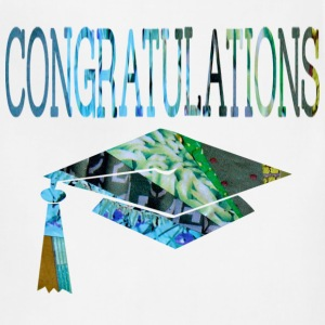 White CONGRATULATIONS GRADUATE Kids' Shirts - Adjustable Apron